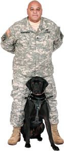 Veteran with Service Dog